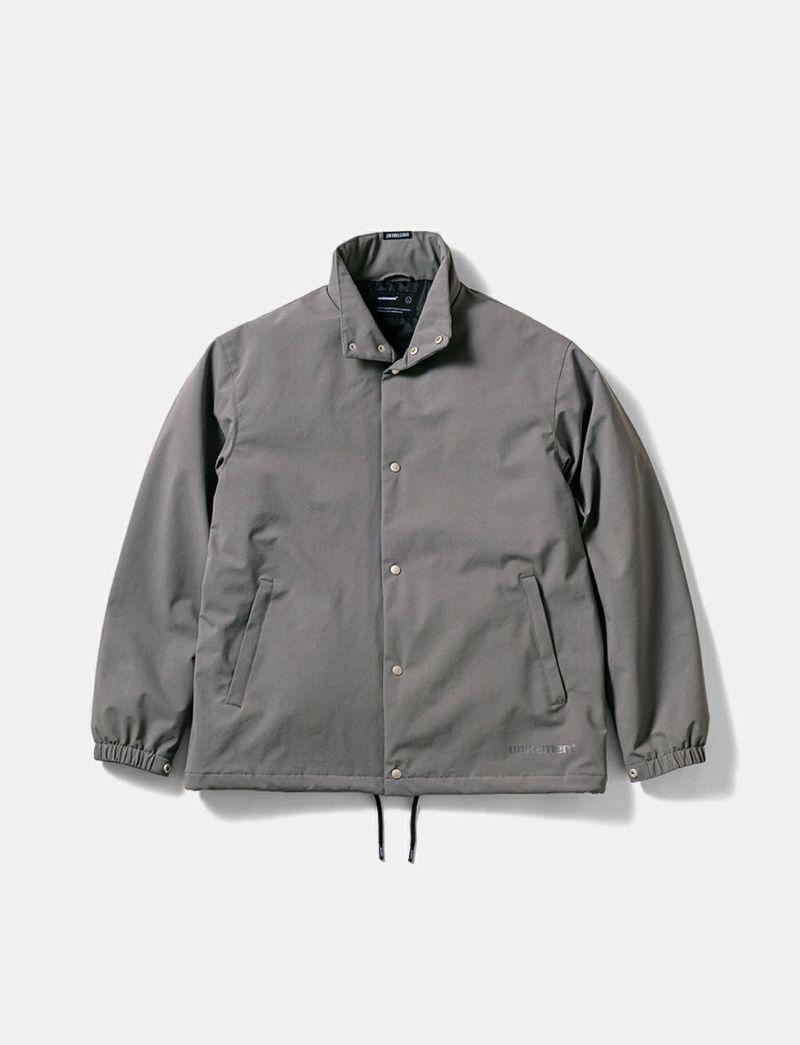 raised neck jacket gray