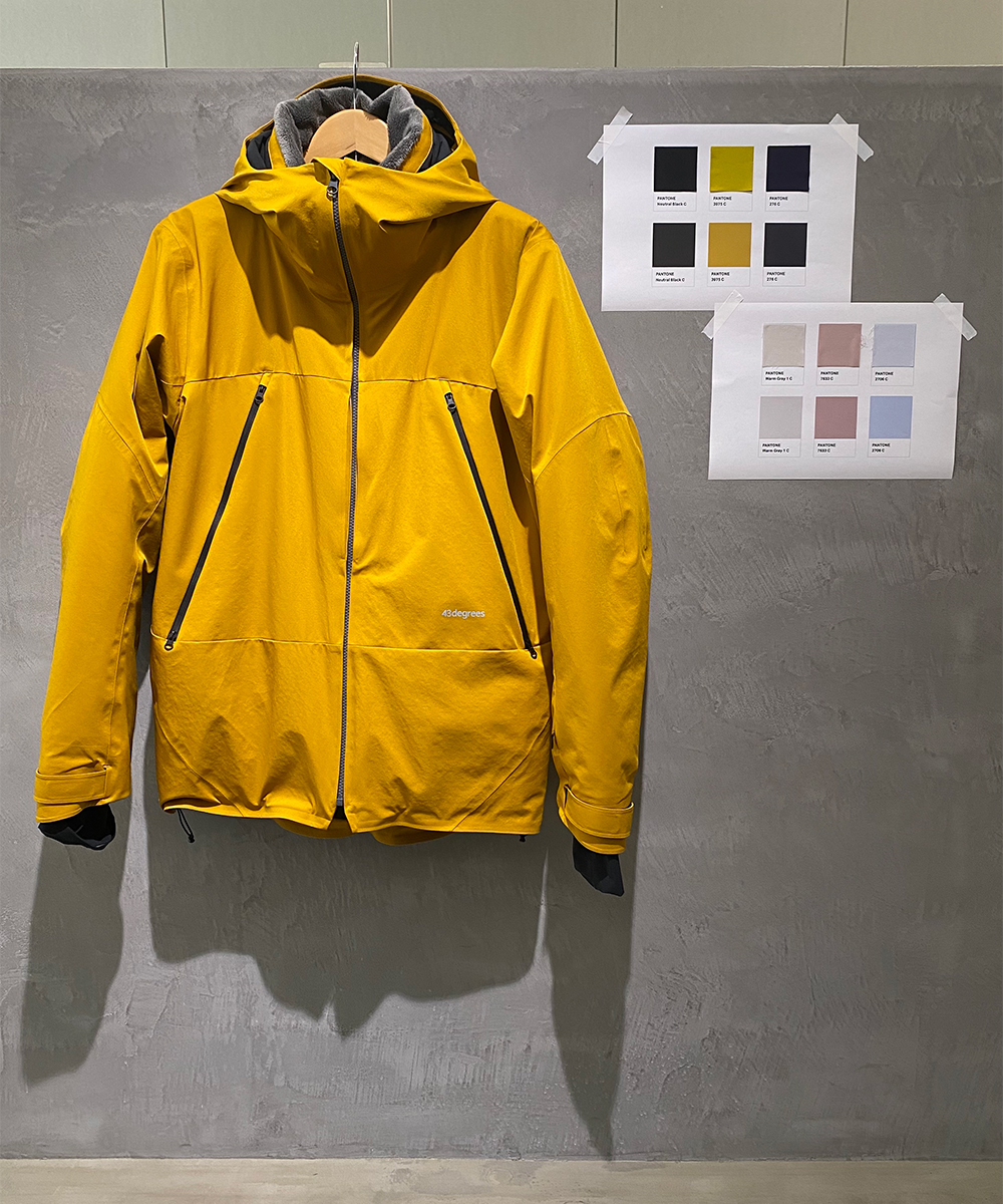 W Padding Peak Jacket と W Padding Hang Pants カラーイメージ