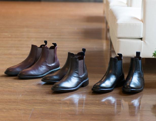 rainfubs 革靴の質感を追求し着用シワや細かなステッチまで
